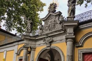 Eingangsportal zum Klosterstift Neuzelle. Foto: Stephan Hartmann