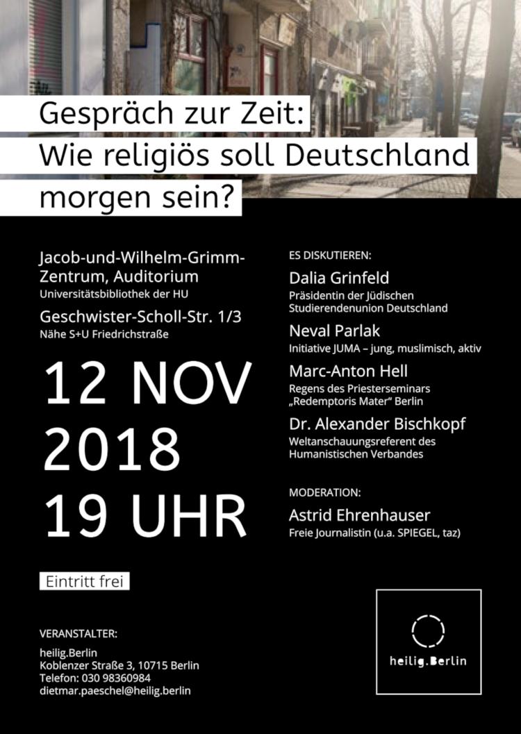 Gespräch zur Zeit: Wie religiös soll Deutschland sein? (Plakat)