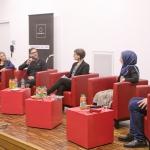 Im Gespräch: v.l.n.r Dalia Grinfeld, Dr. Alexander Bischkopf, Astrid Ehrenhauser, Neval Parlak, Dr. Thomas Schimmel. Foto: Stephan Hartmann / heilig.Berlin