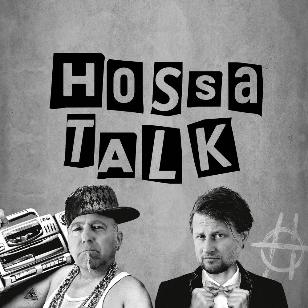 Hossa Talk Logo mit Jay und Gofi, den Moderatoren des Podcasts